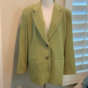 Rafaella green cashmere/wool blazer